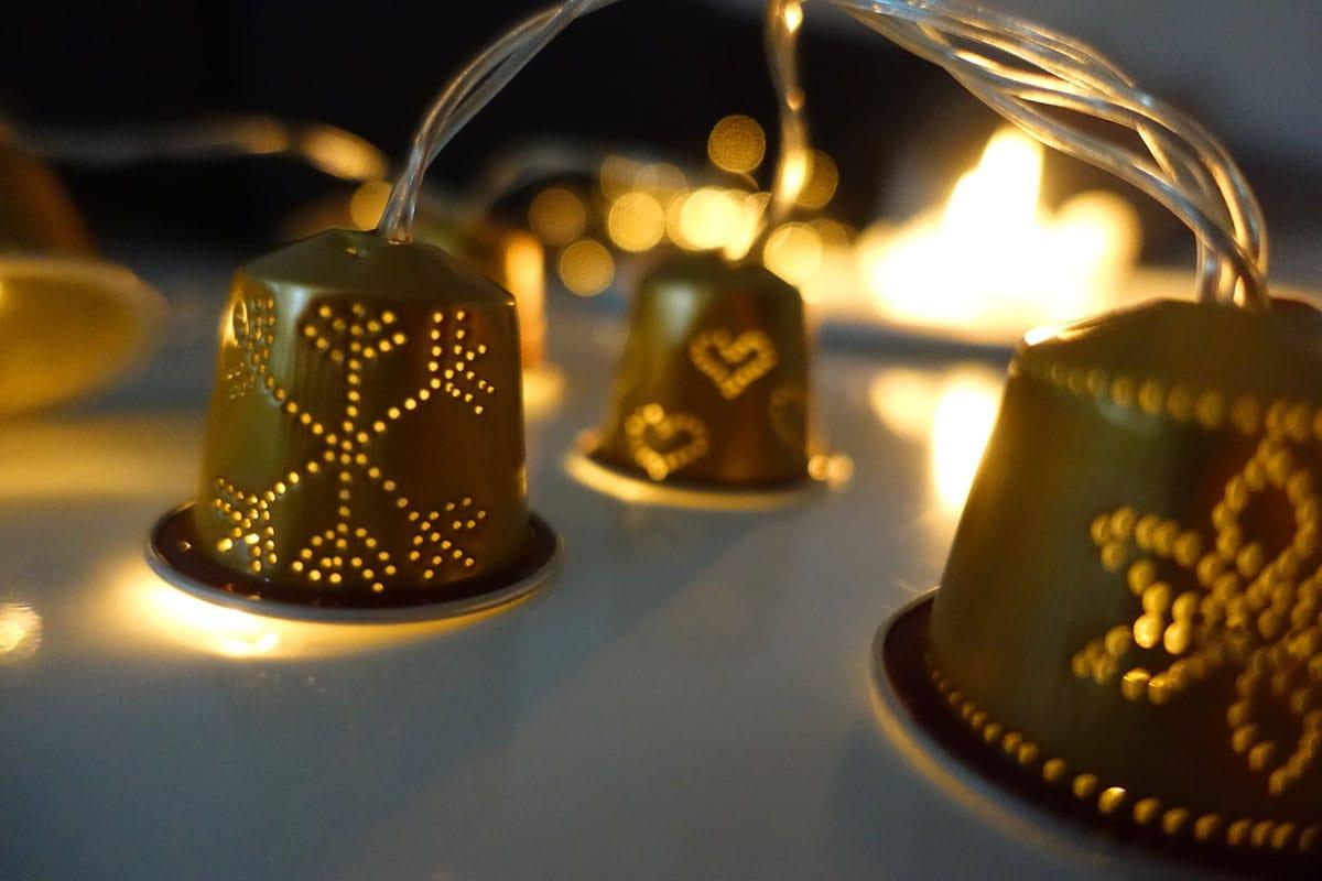 Weihnachtsdeko selber machen Lichterkette basteln