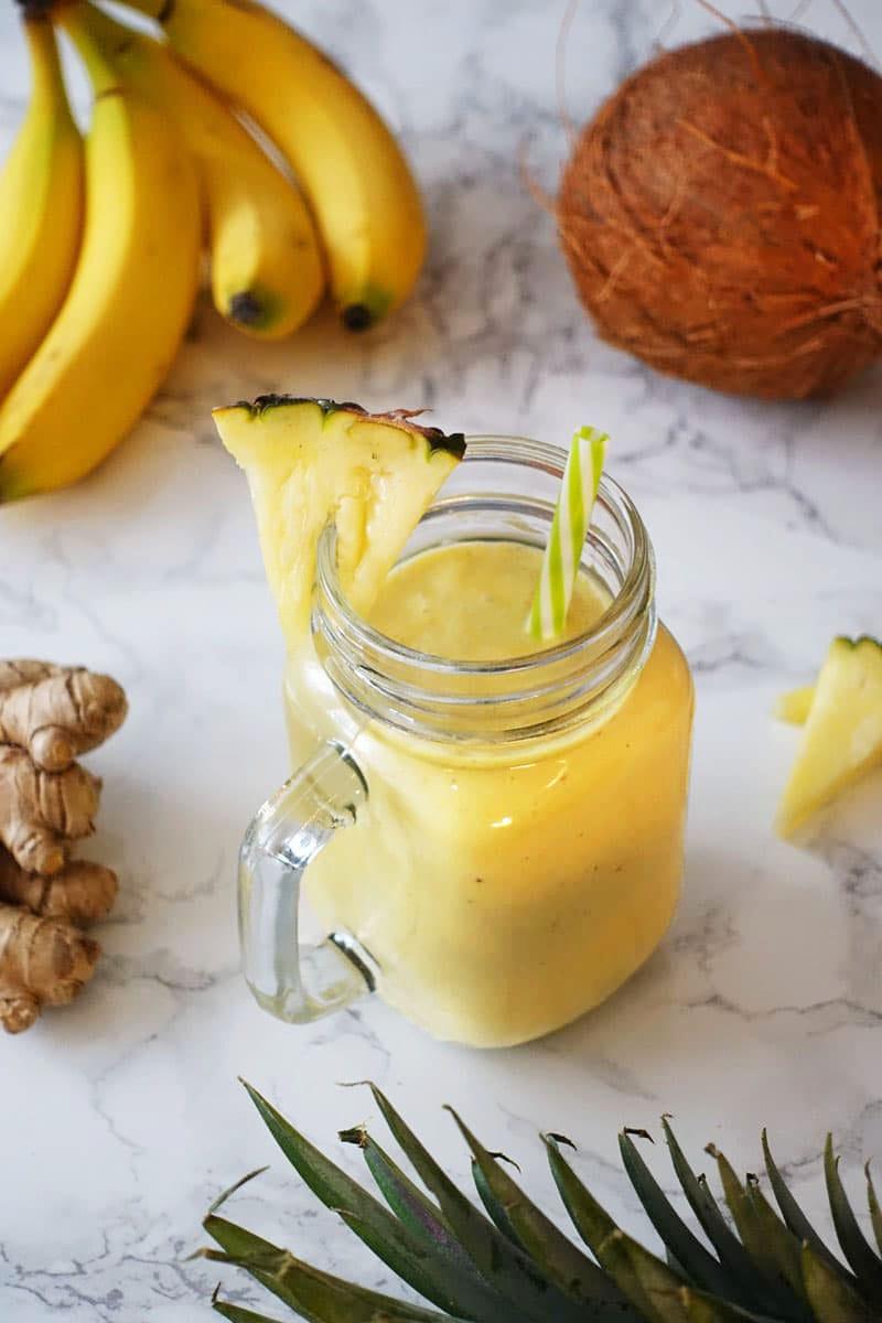 Ananas-Kokos-Smoothie Rezept