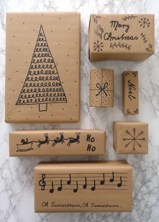 Geschenkverpackung zu Weihnachten selber machen