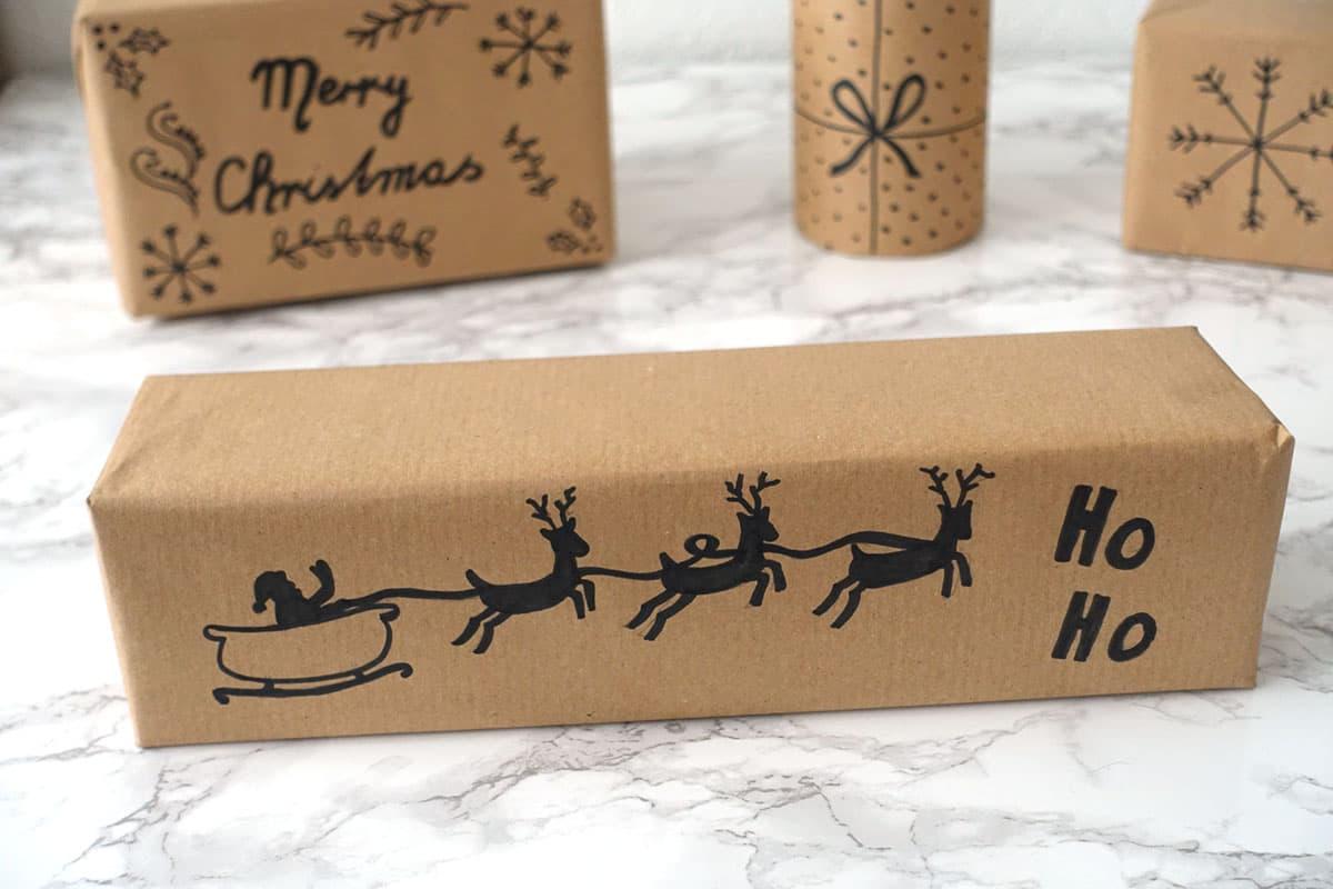 Geschenke verpacken für Weihnachten