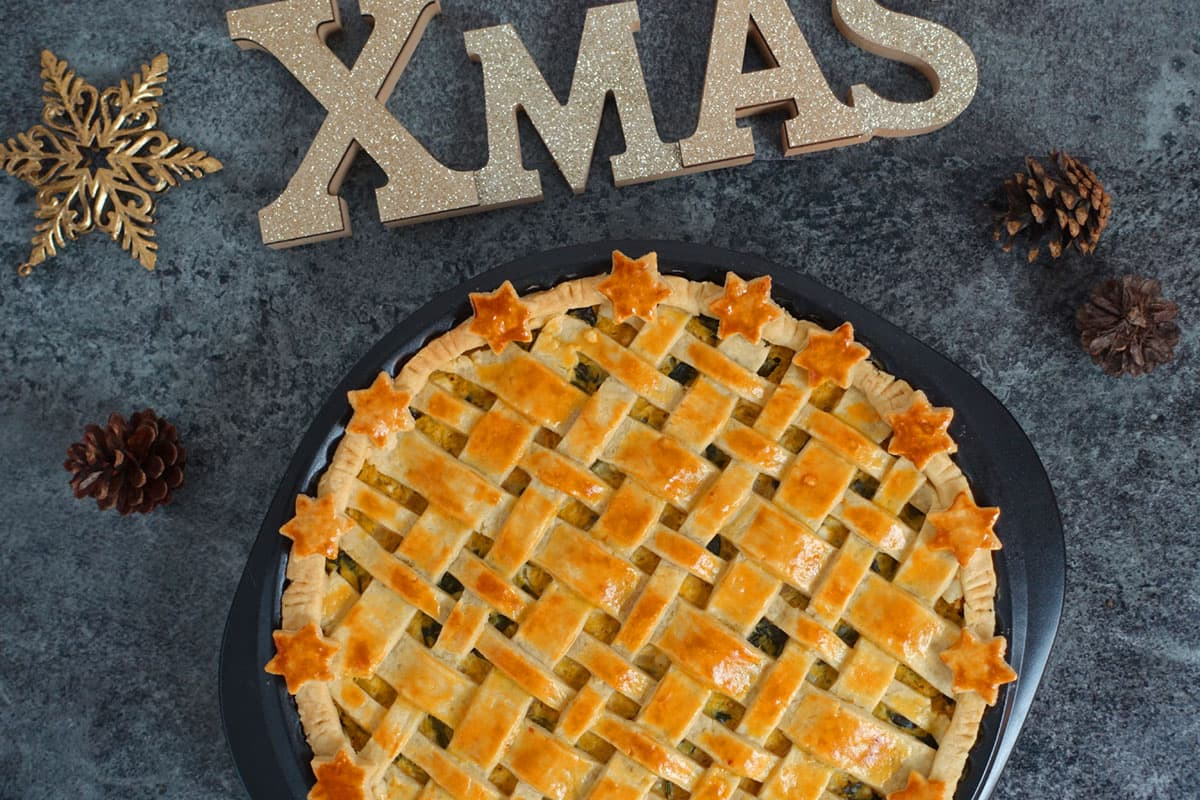 Vegetarisches Weihnachtsmenü vegetarisch