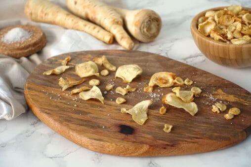 Gemüsechips Rezept aus Petersilienwurzel