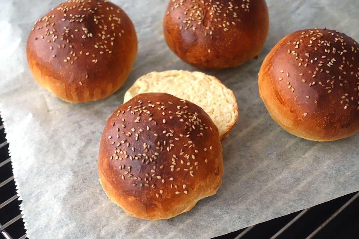 Burgerbuns Burgerbroetchen Hamburgerbroetchen Brioche