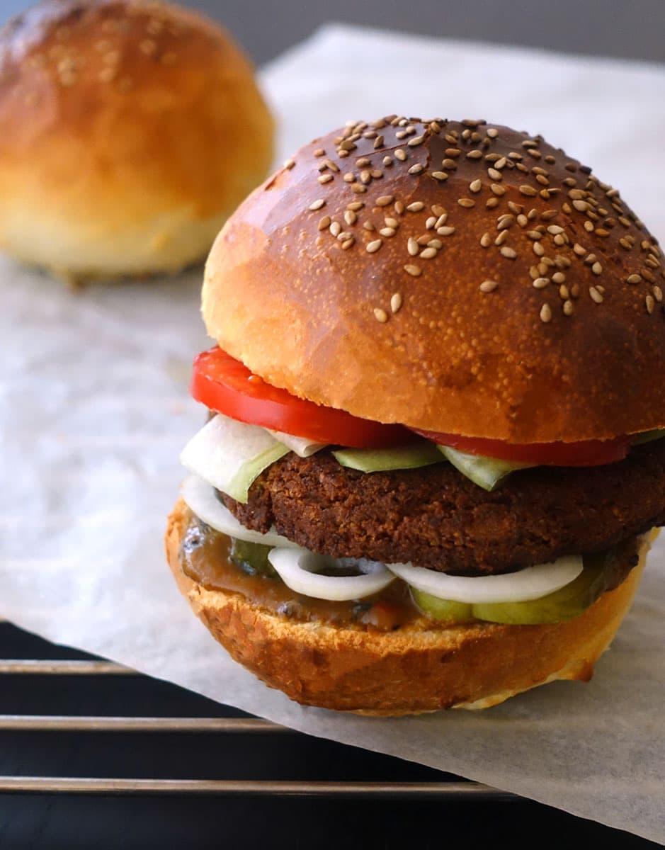 Falafelburger Veggie-Burger Burgerbun Rezept
