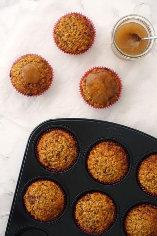 Rüebli Kokos Muffins Karottenmuffins ohne Zucker und ohne Mehl