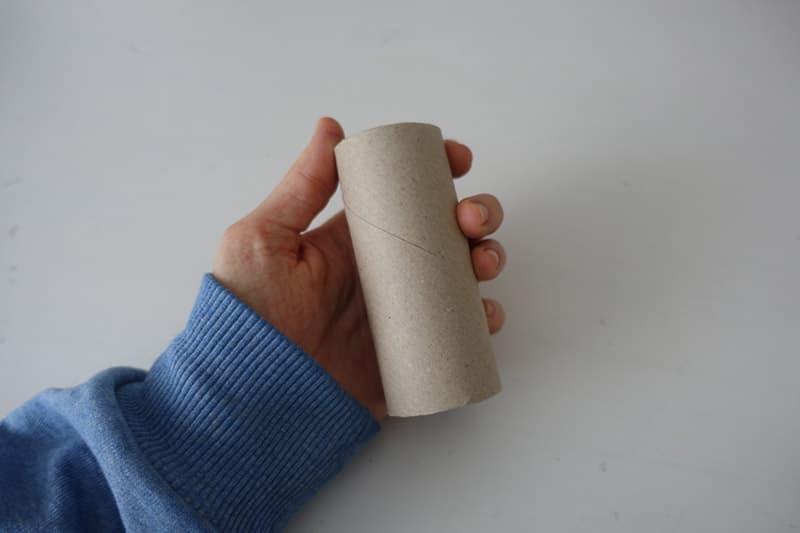 Wir brauchen eine leere Klorolle oder auch WC-Rolle Klopapierrolle