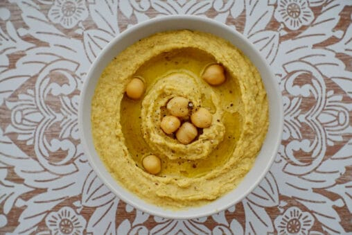 Klassisches Hummus Rezept Kichererbsenpüree