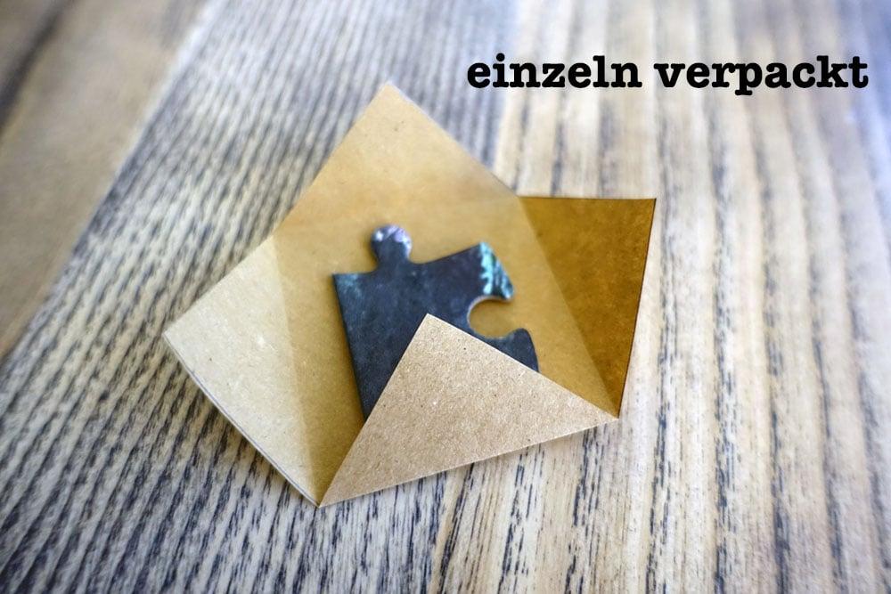 Puzzleteile separat verpackt für den Adventskalender