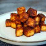 Tofu kross braten in der Pfanne