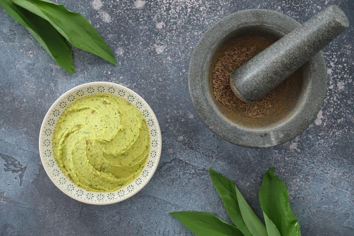 Bärlauch-Hummus Rezept zum Selber machen