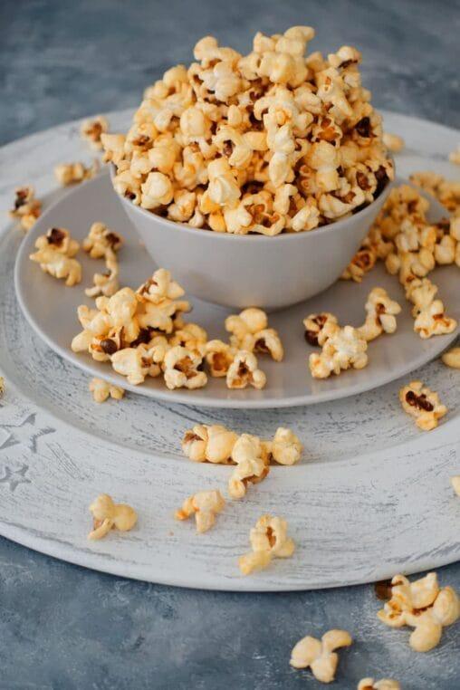 gesalzenes Karamell Popcorn oder auch Salted Karamellpopcorn selber machen