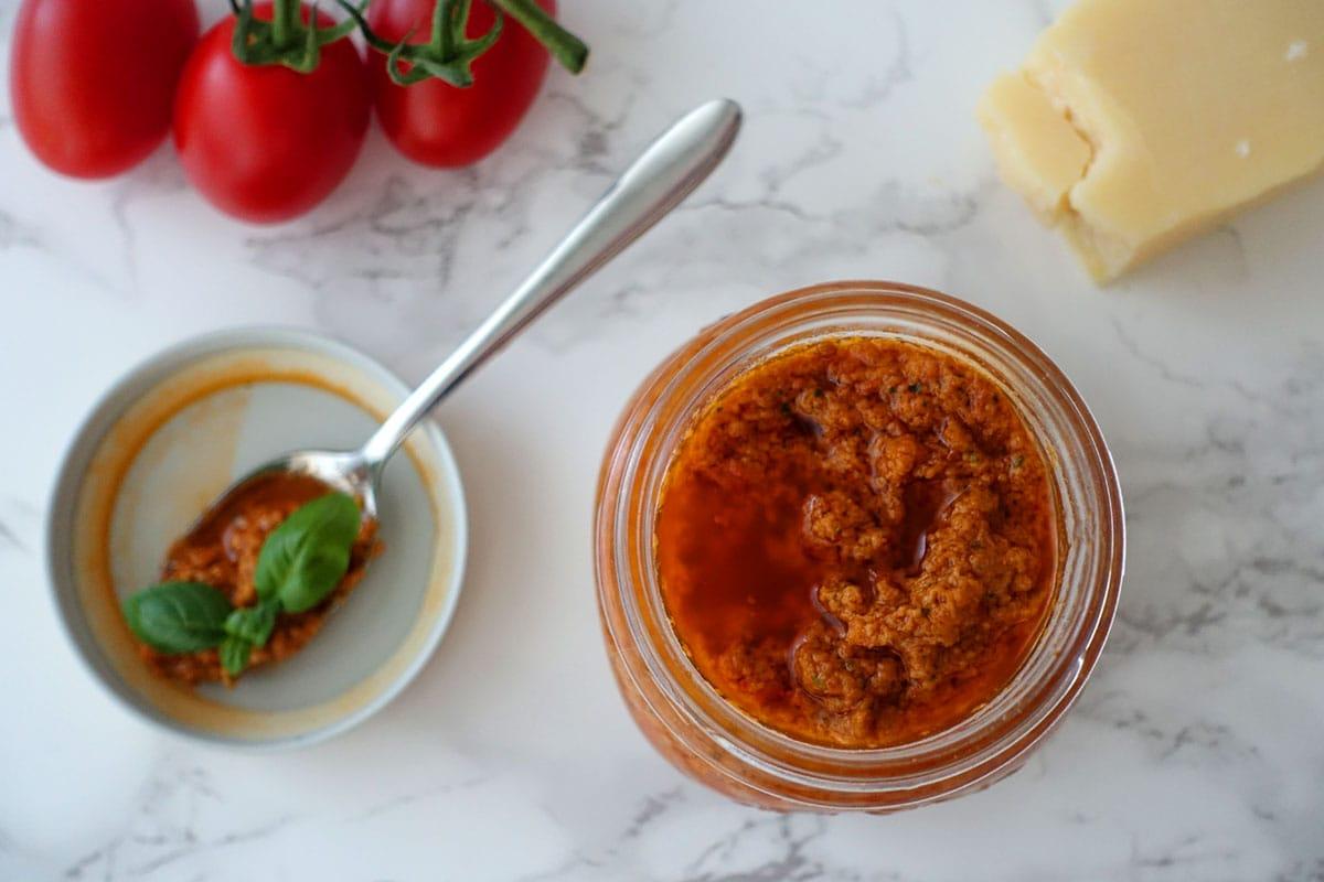 Pesto Rosso selber machen Rezept